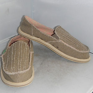 Sanuk Sidewalk Surfer Shoes Loafer Womens Sz. 11